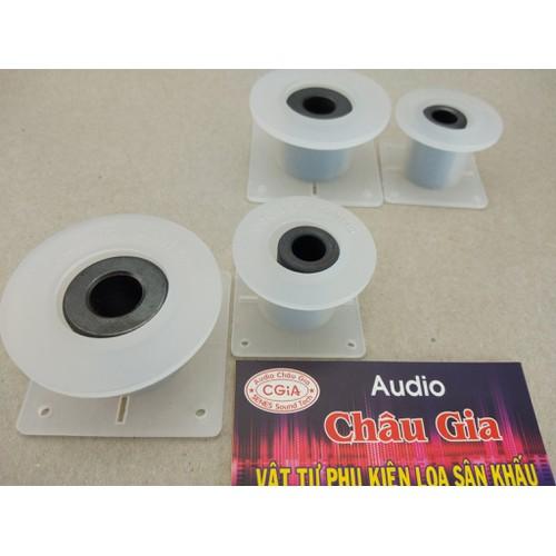 4 bộ lõi nhựa quấn cuộn cảm bass - trép có lõi pherit. audio châu gia