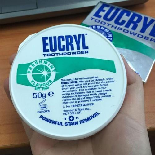 [Xả kho] bột làm trắng răng eucryl