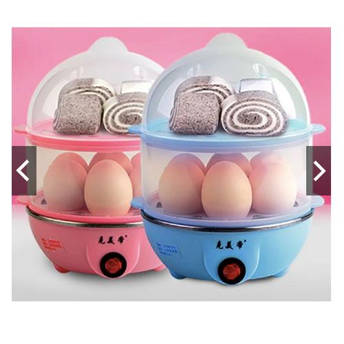 Máy luộc trứng, hấp đồ ăn đa năng 2 tầng tiện dụng trong mọi gia đình