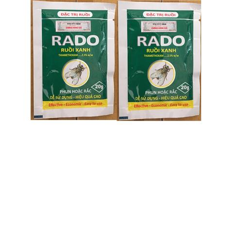 Combo2 gói siêu diệt ruồi thuốc diệt ruồi xanh dạng gói 20gr