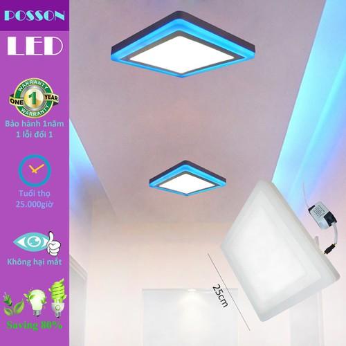 Đèn led ốp trần 24w 18w 6w vuông nổi 2 màu 3 chế độ sáng trắng xanh posson lp so18 6b - 18927664 , 23479600 , 15_23479600 , 142600 , Den-led-op-tran-24w-18w-6w-vuong-noi-2-mau-3-che-do-sang-trang-xanh-posson-lp-so18-6b-15_23479600 , sendo.vn , Đèn led ốp trần 24w 18w 6w vuông nổi 2 màu 3 chế độ sáng trắng xanh posson lp so18 6b