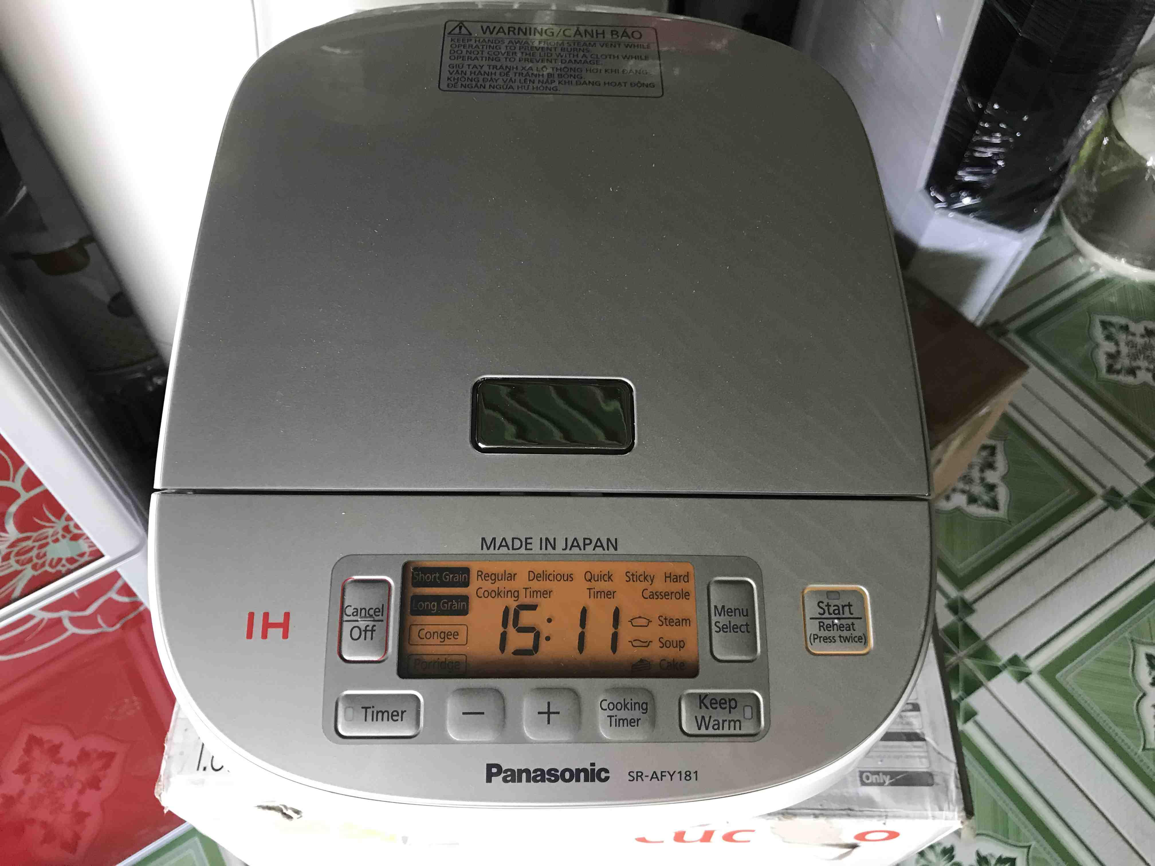 Nồi cơm điện tử cao tần Panasonic SR-AFY181WRA - 1.8 lít