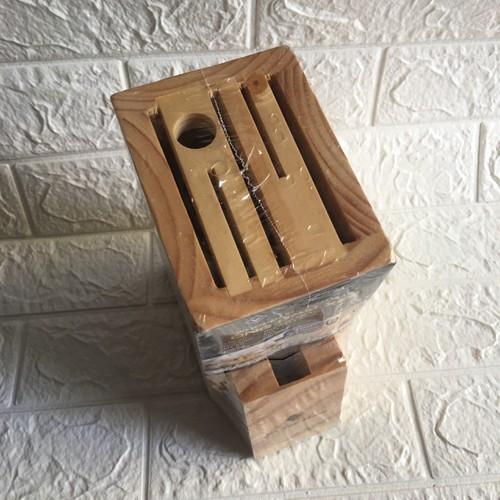 Vắt đựng dao xéo. đựng 7 chi tiết dao và kéo. 100 gỗ thông thiên nhiên
