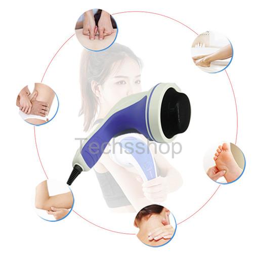 [Quà đỉnh 0đ] máy massage cầm tay puli pl-603ac3 8 đầu massage - máy mát xa cầm tay có đèn hồng ngoại  - tặng 10 bao lì xì tết 2020