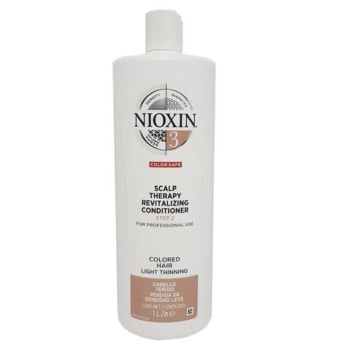 Dầu xả chống rụng tóc nioxin system 3 conditioner 1000ml new 2019 colored hair