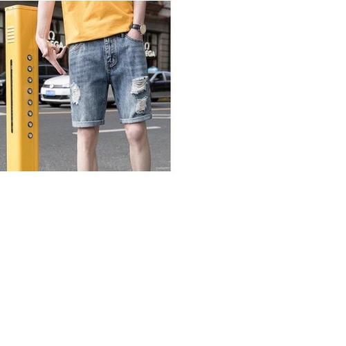 Quần shorts jeans rách wash