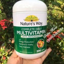 VITAMIN TỔNG HỢP KẾT HỢP CHỐNG OXY HOÁ NATURE'S WAY MULTIVITAMIN WITH ANTIOXIDANT - 200 VIÊN