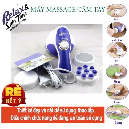 Máy massge cầm tay giảm mỡ toàn thân - ppk 273 - máy massage cầm tay relax & spin tone chất lượng cao, siêu tiện lợi, giá tốt - massage toàn thân giá rẻ - giúp lưu thông tuần hoàn khí huyết - giảm căn