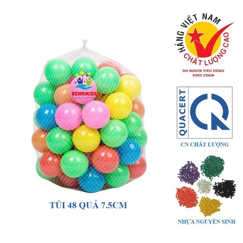 Đồ chơi túi 48 bóng nhựa mềm hàng việt nam phi 7.5 cho bé - 12188072 , 19915364 , 15_19915364 , 149000 , Do-choi-tui-48-bong-nhua-mem-hang-viet-nam-phi-7.5-cho-be-15_19915364 , sendo.vn , Đồ chơi túi 48 bóng nhựa mềm hàng việt nam phi 7.5 cho bé