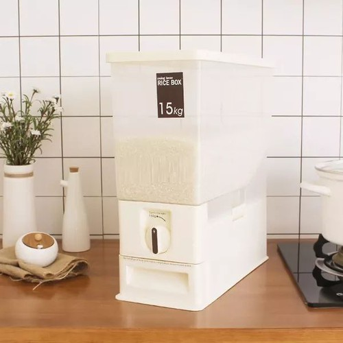 Thùng đựng gạo thông minh 15 kg nhựa chính hãng