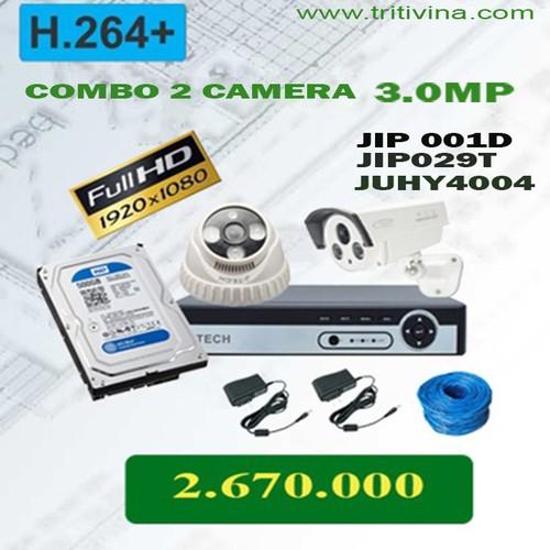 Combo camera 2 bộ ip 3.0mp cho hình ảnh rõ nét chân thực