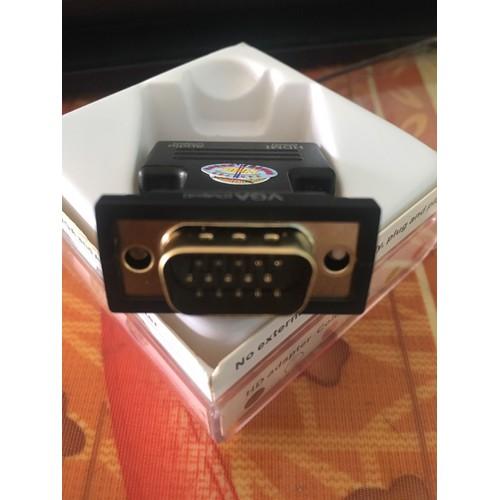 Combo đầu chuyển hdmi-vga có âm thanh và dây cáp hdmi 1,5m lõi đồng