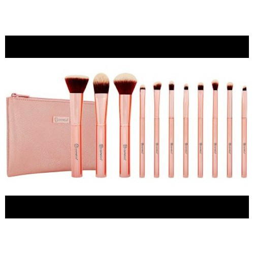 Bộ cọ 11 cây bh cosmetics metal rose brush set