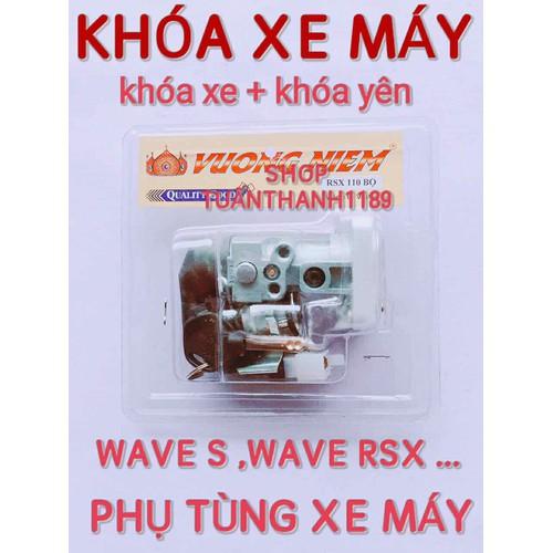Khoá xe máy kèm khoá yên wava s wave rsx - 12203676 , 19937687 , 15_19937687 , 130000 , Khoa-xe-may-kem-khoa-yen-wava-s-wave-rsx-15_19937687 , sendo.vn , Khoá xe máy kèm khoá yên wava s wave rsx
