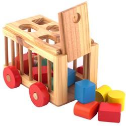 Xe cũi thả hình - xe gỗ đồ chơi phát triển trí tuệ hình khối cho bé - xecui