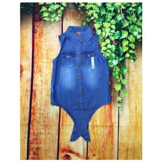 Áo jean bé gái cột nơ 8-18kg. Chất jean nhẹ - phối với quần jean dài hoặc short jean tạo style sành điệu - Red Ant Kids. - AG-030 thumbnail