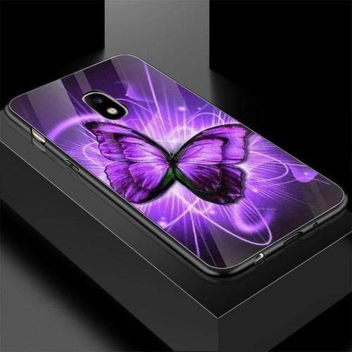 Ốp kính cường lực cho điện thoại samsung galaxy j7 - bướm đẹp ms buomd088