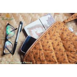 Túi ví cầm tay Charmy Base- đựng mỹ phẩm, đồ cá nhân- Maylala handmade