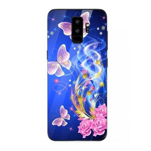 Ốp kính cường lực cho điện thoại samsung galaxy s9 plus - bướm đẹp ms buomd019