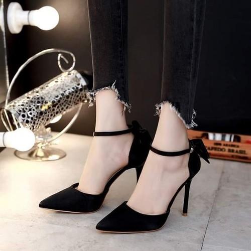 Giày sandal cao gót bít mũi nơ xinh - 12190786 , 19919091 , 15_19919091 , 295000 , Giay-sandal-cao-got-bit-mui-no-xinh-15_19919091 , sendo.vn , Giày sandal cao gót bít mũi nơ xinh