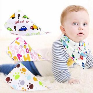 Bộ 10 khăn yếm tam giác có cúc bấm cho bé yêu - Khăn yếm tam giác - 10KY thumbnail