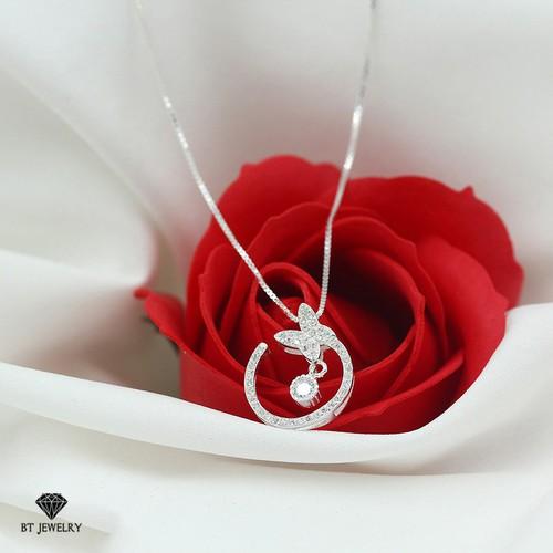 Dây chuyền nữ bướm nhỏ đính đá tròn phong cách hàn quốc - bt jewelry - 12197307 , 19928822 , 15_19928822 , 270000 , Day-chuyen-nu-buom-nho-dinh-da-tron-phong-cach-han-quoc-bt-jewelry-15_19928822 , sendo.vn , Dây chuyền nữ bướm nhỏ đính đá tròn phong cách hàn quốc - bt jewelry