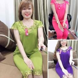 Bộ mặc nhà nữ trung niên cho mẹ Đồ bộ nữ cho mẹ thu đông
