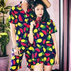 Bộ đồ đôi nam nữ trái cây