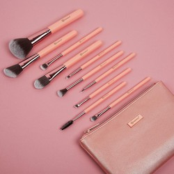 Bộ BH Cosmetics Pretty In Pink 10 Piece Brush Set With Cosmetic Bag