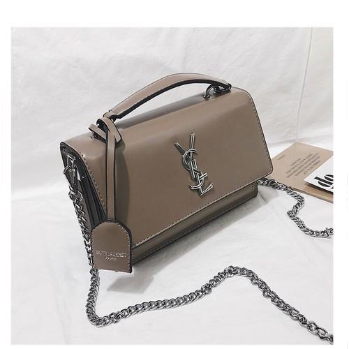 Túi xách tay đeo chéo nữ thời trang t09 size 22x16x7cm dây đeo chéo xích phụ kiện thời trang nữ