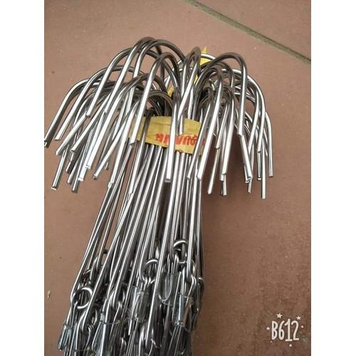 10 móc inox 70cm 3li, dây2,8 li