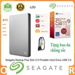 Ổ Cứng Di Động Segate Backup Plus Slim 1TB BH 24 Tháng  tặng túi chống sốc