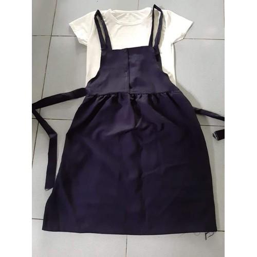 Đầm set yếm áo thun