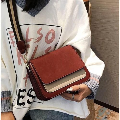 Túi đeo chéo nữ mini ulzzang thời trang t40 phối 2 màu size 21x17x8 cm dây đeo chéo bản lụa to phụ kiện thời trang màu sắc: đỏ - đen - xám - 12219629 , 19961851 , 15_19961851 , 660000 , Tui-deo-cheo-nu-mini-ulzzang-thoi-trang-t40-phoi-2-mau-size-21x17x8-cm-day-deo-cheo-ban-lua-to-phu-kien-thoi-trang-mau-sac-do-den-xam-15_19961851 , sendo.vn , Túi đeo chéo nữ mini ulzzang thời trang t40 ph