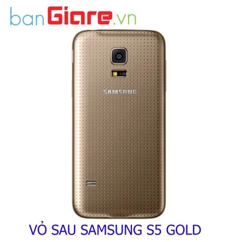 NẮP LƯNG SAMSUNG S5 GOLD