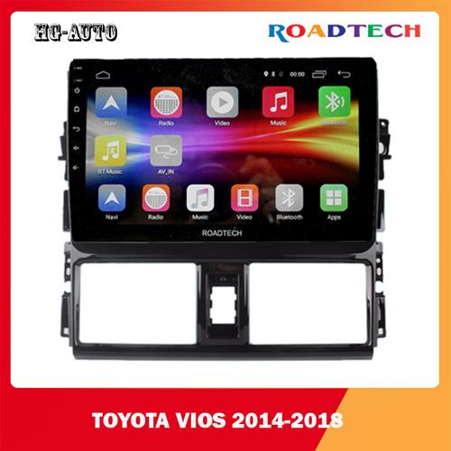 Dvd android roadtech ram 2gb-32gb full hd 1080p cho xe toyota vios 2014-2018