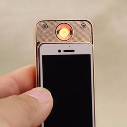 Bật - lửa sạc điện hồng ngoại hình iphone nắp trượt cao cấp