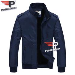 Áo Khoác Dù Nam Hai Lớp Cổ Trụ có BIG SIZE 2 túi khóa an toàn, túi trong tiện ích Mùa đông không sợ lạnh Pigofashion AKD25 - fs1