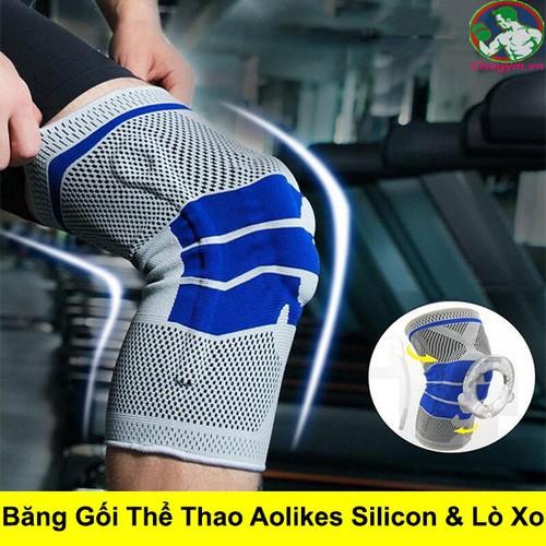 Băng gối thể thao aolikes knee pads có lớp đệm silicon và lò xo