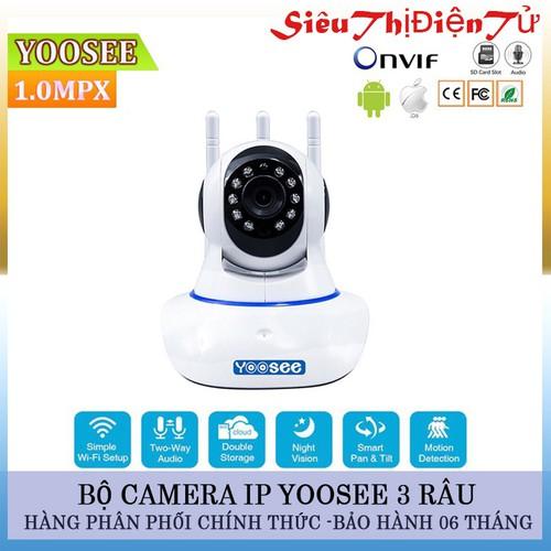 Camera yoosee 3 râu với camea ip wifi - camera không dây độ phân giải hd720p - camera yoosee quan sát tiện lợi
