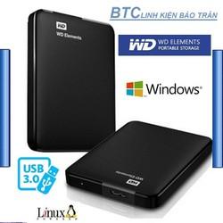 Ổ Cứng Di Động W.D Elements 500GB - BH 24 Tháng  tặng túi chống sốc