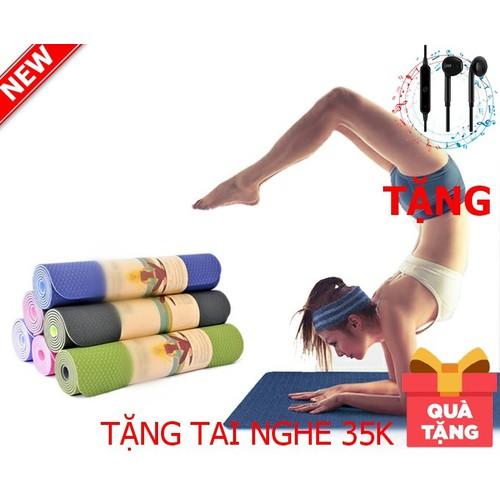 Thảm yoga 2 lớp vân hoa cao cấp giá tốt