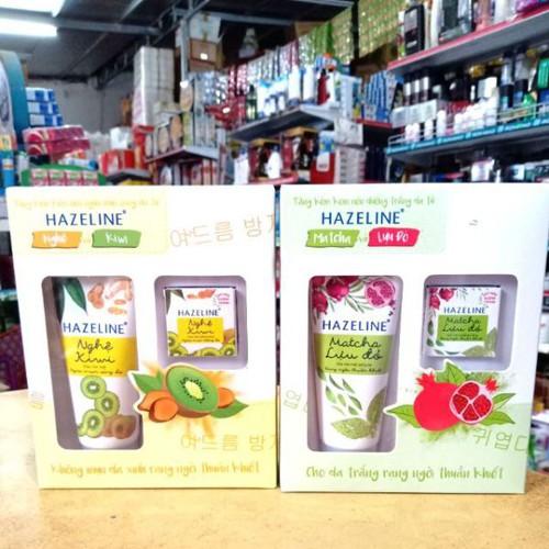 Sữa rửa mặt hazeline matcha lựu đỏ và nghệ kiwi 50g tặng kèm nén dưỡng