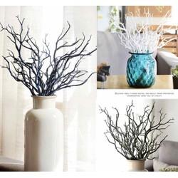 1 nhánh cây nhựa giả trang trí - màu xanh trang trí bình hoa voan hoa giấy
