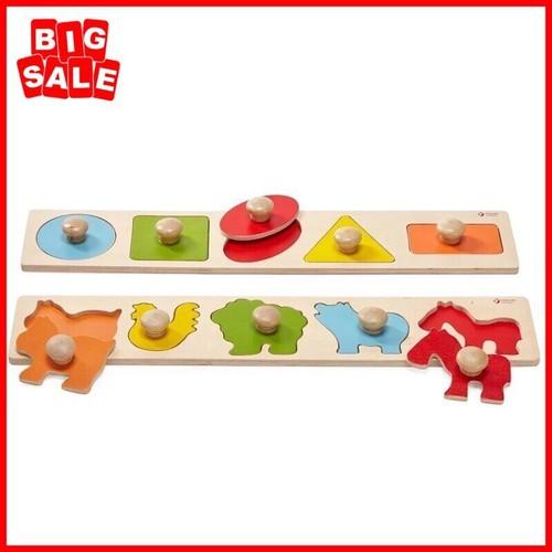 Đồ chơi gỗ thông minh xếp 10 cặp hình đối xứng - cho bé khéo tay nhanh mắt