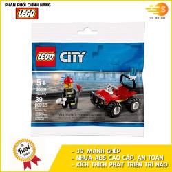 Bộ đồ chơi lắp ráp xe cứu hỏa ATV mini 39 mảnh Lego City 30361