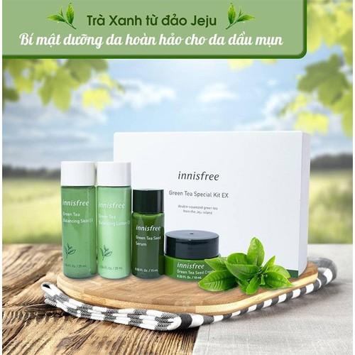 Bộ dưỡng da trà xanh innisfree green tea special kit ex 2019 edition 4 món