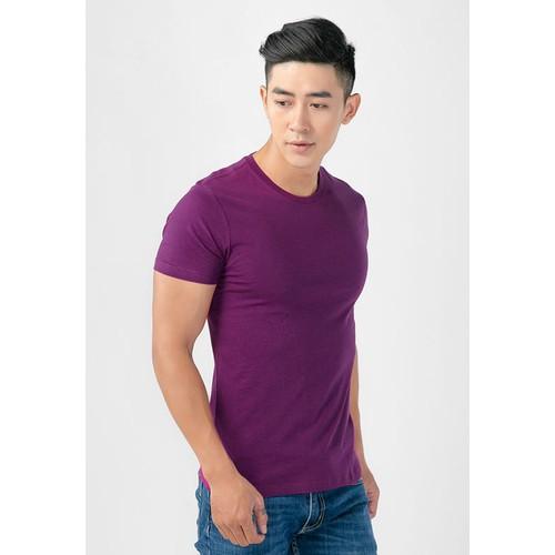Áo thun nam màu tím thoáng mát, khử mùi, mỏng nhẹ