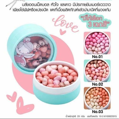 Phấn má hồng viên odbo fairy candy pearls blusher mẫu mới nhất 2019