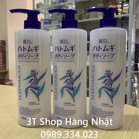 Sữa tắm dưỡng ẩm trắng da Hatomugi Moisturizing Washing 800ml - PVN2126